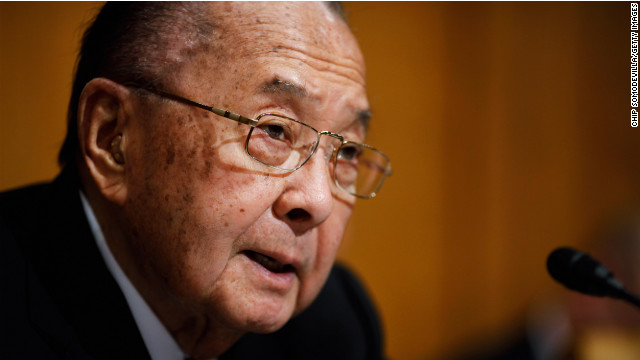 Daniel Inoue, a World War II Medal of Honor recipient who represented Hawaii in the Senate for four decades, died in 2012 at the age of 88.