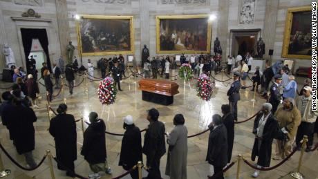 Rosa Parks graces the Capitol Rotunda in 2005