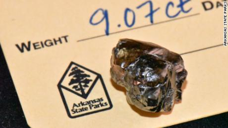 A 9.07 carat diamond was found in Crater of Diamonds State Park.