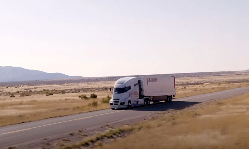 A 2018 Nikola video showed a prototype of Nicola Wan rolling down a shallow hill in Utah. Nicola now says he never claimed the truck was going under its own power.