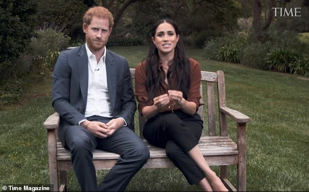 The Duke and Duchess of Sussex talk about the US election vote during a TV appearance marking Time's 100 most influential names appeal last week.