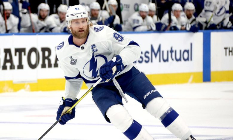 "Tampa Bay Lightning captain Stephen Stamkus for ""unfit to play"" was excluded from Match 4"