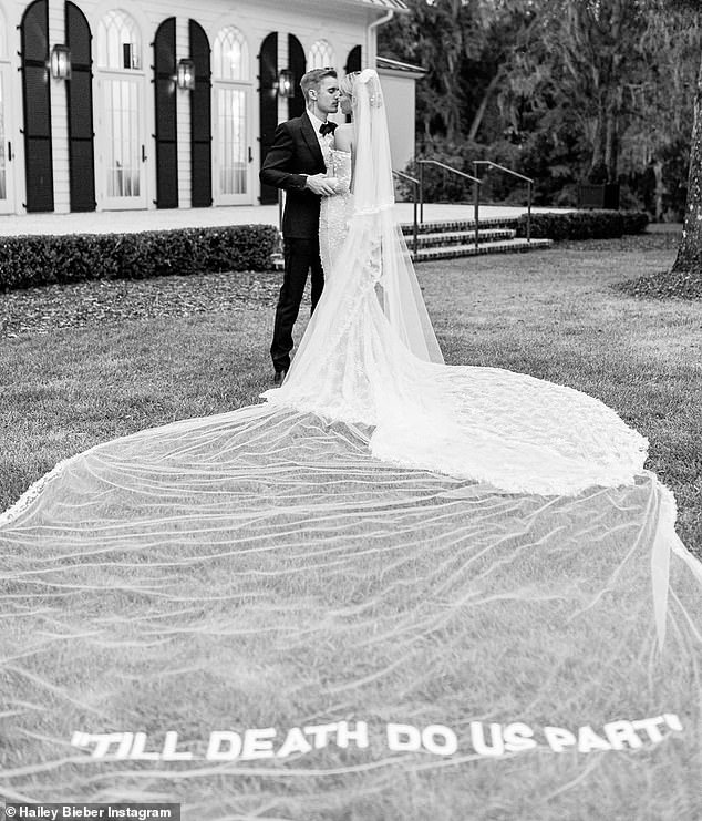 Stylish Affair: Singer Sorry and model Vogue both posted stunning black and white photos of their delightful weddings.
