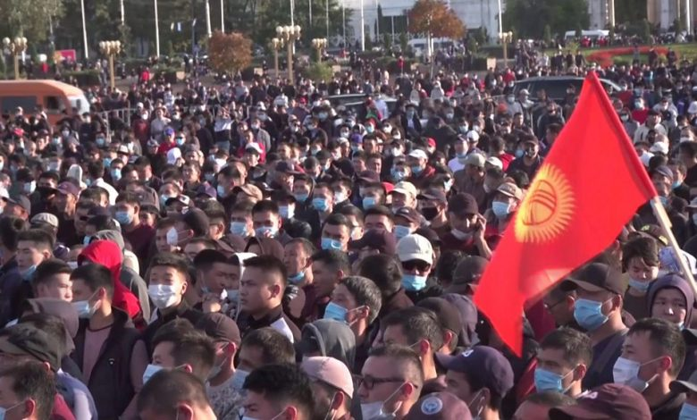 Kyrgyzstan elections: Protesters storm parliament over allegations of vote tampering