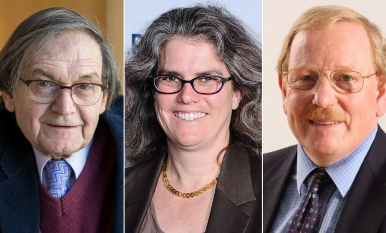 The Nobel Prize in Physics has been awarded to the discoveries of black holes by Roger Penrose, Reinhard Genzel, and Andrea Gies.