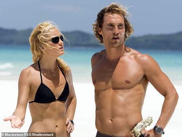 Hudson said, `` Every time I kissed McConaughey, I mean, as if something was just happening and there like snot or wind; We see here together in Lie Gold