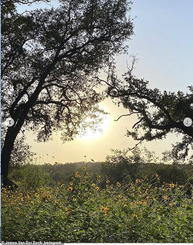 Natural Beauty: A Varsity Blues actor shared an idyllic sunset snapshot from this Texas home
