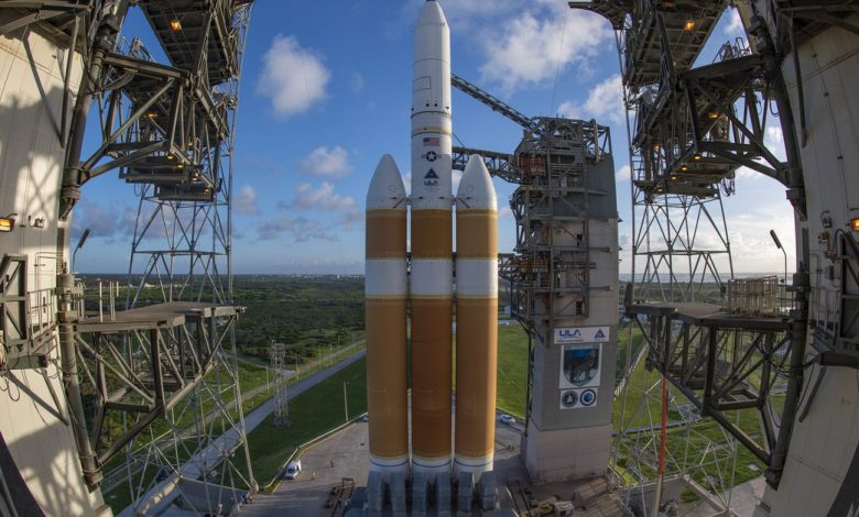 After long delays, ULA's most powerful missile is preparing to launch a secret spy satellite