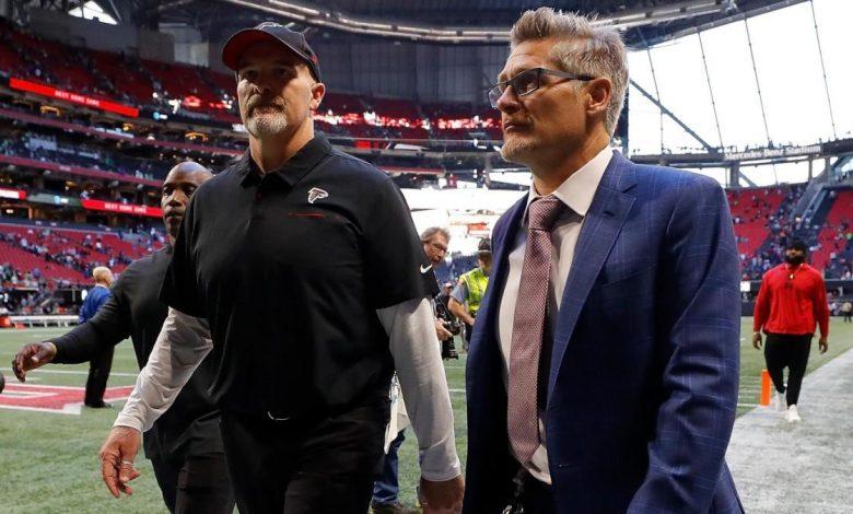 Hawk fire coach Dan Quinn and GM Thomas Dimitrov after starting 0-5, will announce interim coach on Monday