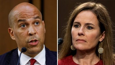 "Photo of Twitter accuses Cory Booker of ""profligacy"" of Amy Connie Barrett in a confirmation hearing"