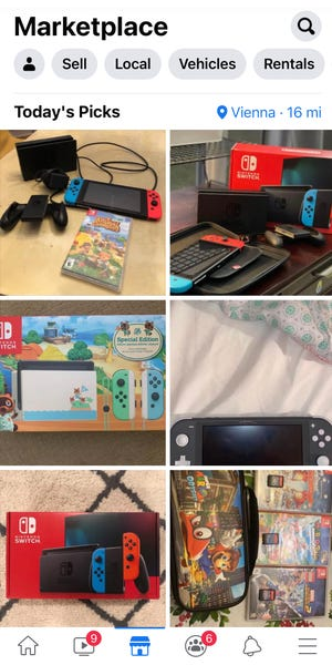 You can buy or sell used video games and devices on Facebook Marketplace.