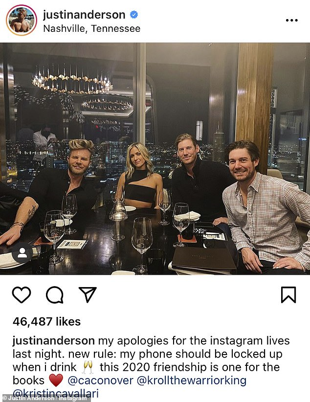 Wild Night: Laguna Beach star, Anderson and Southern Charm Boys enjoyed a wild night last week as they were spotted dancing drunk to Taylor Swift's Instagram tunes right after dinner.  December 14th