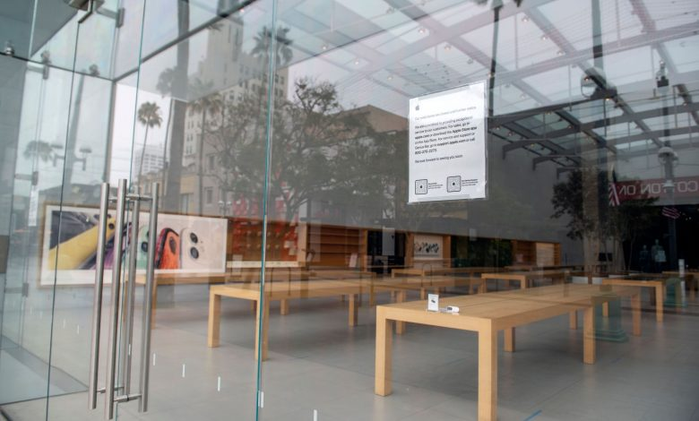 Apple is closing all of its California stores as coronavirus cases rise