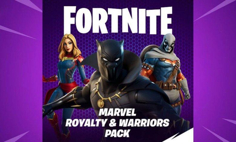 Fortnite Marvel Royalty & Warriors Pack - Black Panther, Captain America, Taskmaster Fortnite Skins Release Date, Price