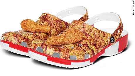 KFC and Crocs create a fried chicken-coated clog that smells similar to it, too