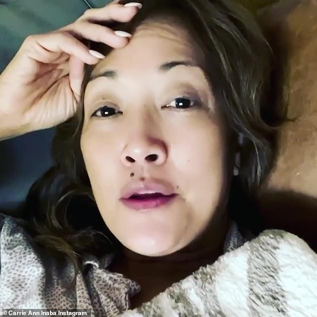 Test positive: One of her co-hostesses, Carrie Ann Inaba, said earlier in December that she tested positive in an Instagram post, saying she had suffered