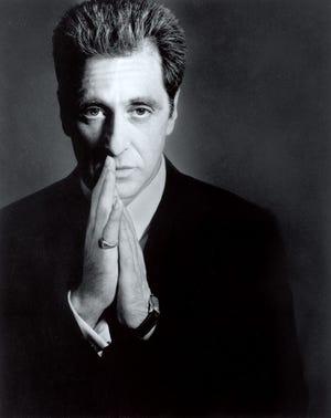 "Al Pacino caps for his role as Michael Corleone ""The Godfather of Mario Puzo, Coda: The Death of Michael Corleone"" (On Blu-ray December 8)."