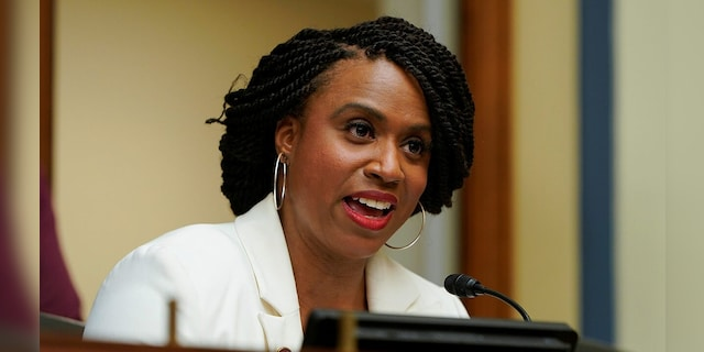 Representative Ayanna Presley, de Massachusetts, is one of the sponsors of a bill to send incentive checks to Americans worth $ 2,000 regardless of other coronavirus-related aid.  (Reuters)