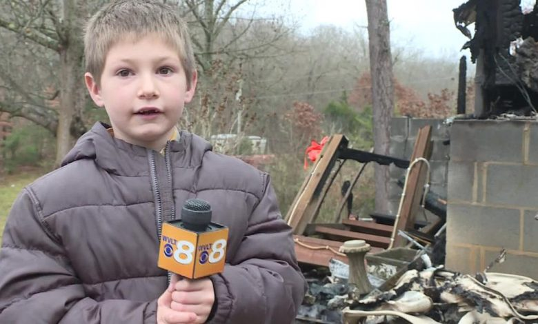 A 7-year-old boy returns to a burning home to save his baby sister