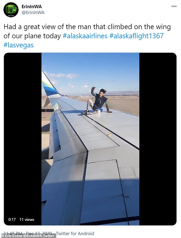 Twitter user Irene Evans caught much of the accident while he was on board her departure plane