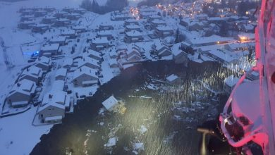 Photo of A landslide in Norway bury homes in mud;  10 people are still missing