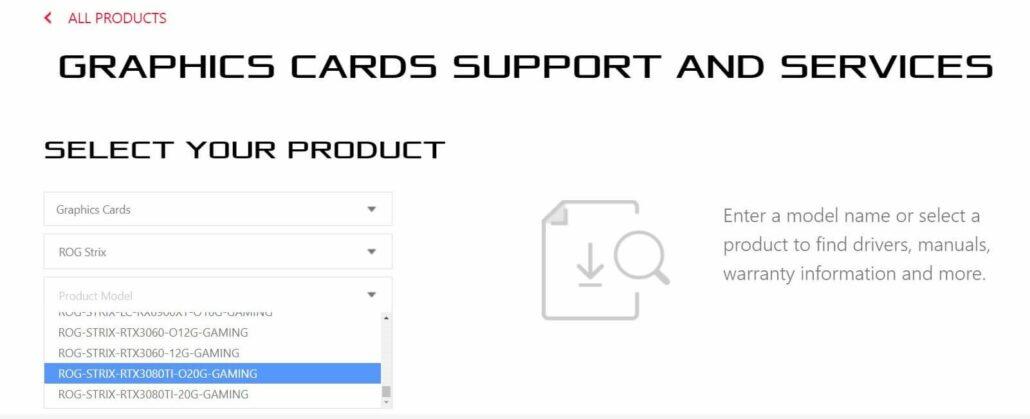 ASUS ROG STRIX GeForce RTX 3080 Ti 20 GB, GeForce RTX 3060 12 GB Graphics Cards _1
