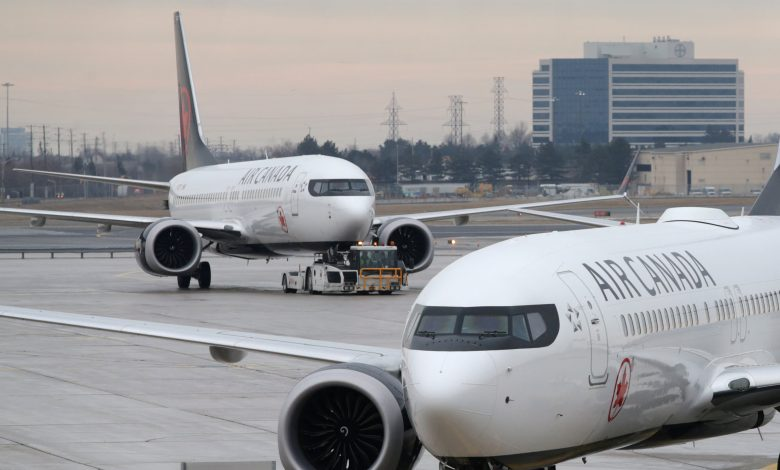 Air Canada Boeing 737 Max ferry flight after engine problem