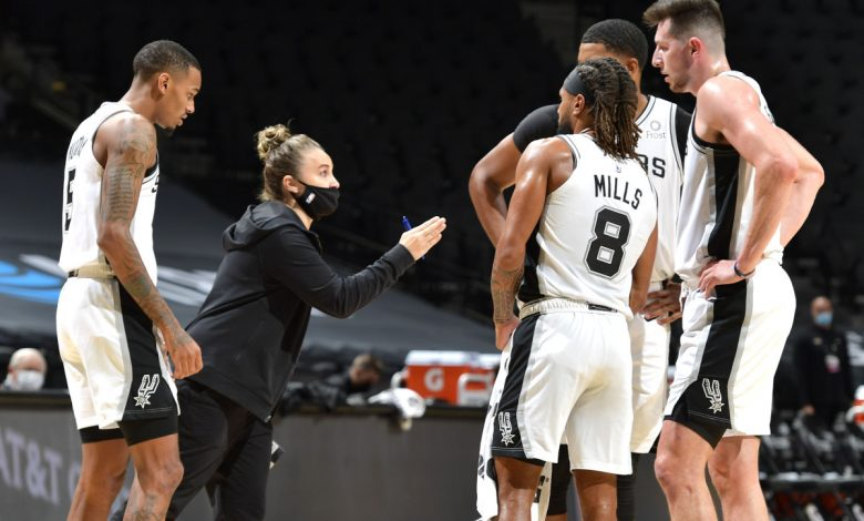 Becky Hammon becomes the first woman to coach the NBA team after Popovic was sent off