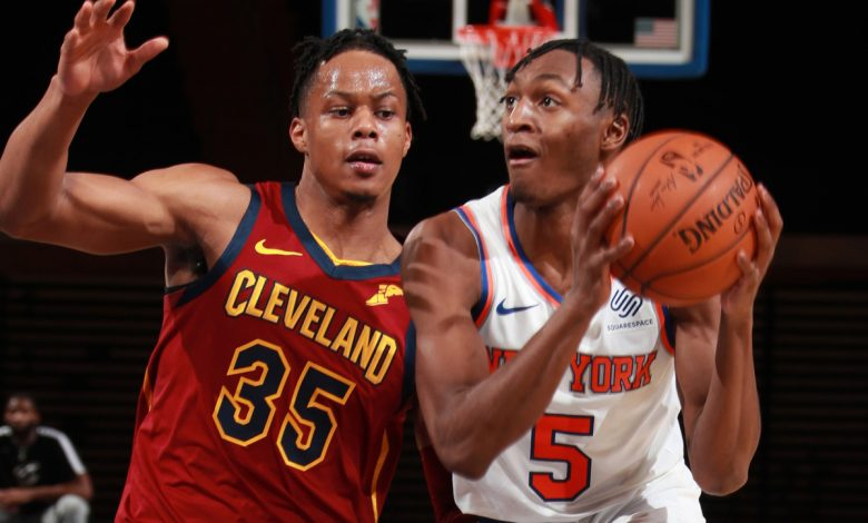 Emmanuel Quickley introduces the show while the Knicks crush the Cavaliers