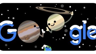 Photo of Google Doodle highlights the wonderful conjunction of Jupiter and Saturn