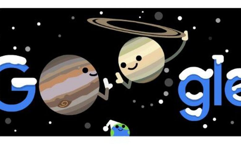 Google Doodle highlights the wonderful conjunction of Jupiter and Saturn