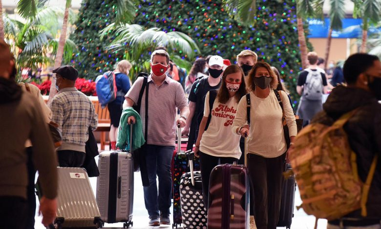 Holiday travel increases fear of the spread of the Corona virus