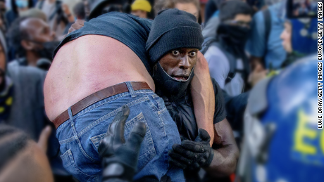 The rescue of the Black Lives Matter demonstrator is the most inspiring moment of the year