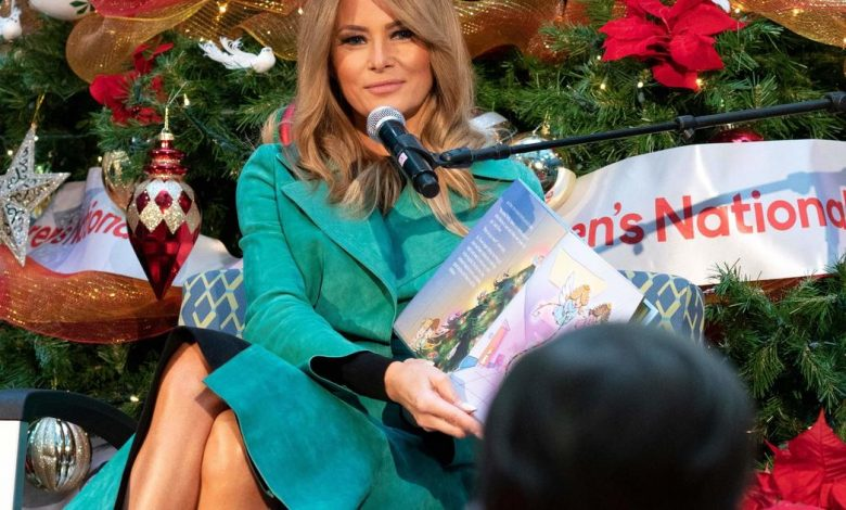 Melania Trump continues the first lady's tradition of visiting Children's Hospital over the holidays - despite the pandemic