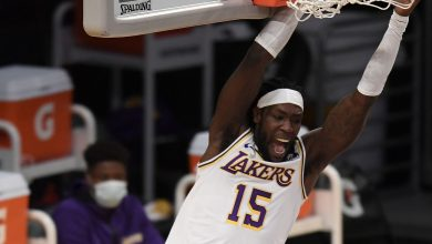 Photo of Montrezel Harrell focused on the Lakers, not the nonsense talk of the clippers