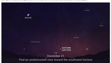 "Photo of On Monday, the ""Christmas Star"" appeared in the sky for the first time in 800 years: How to see a wonderful connection if the weather permits"