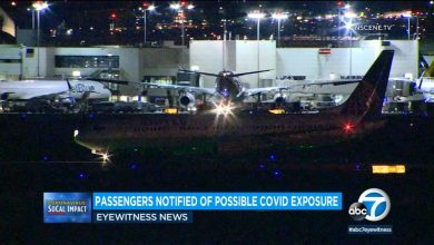 Photo of Passengers on board LAX Airlines have been notified of possible exposure to COVID-19 after the death of a passenger on December 14