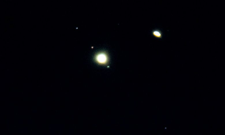 """The """"Christmas Star"""": Images from the conjunction of Jupiter and Saturn"""