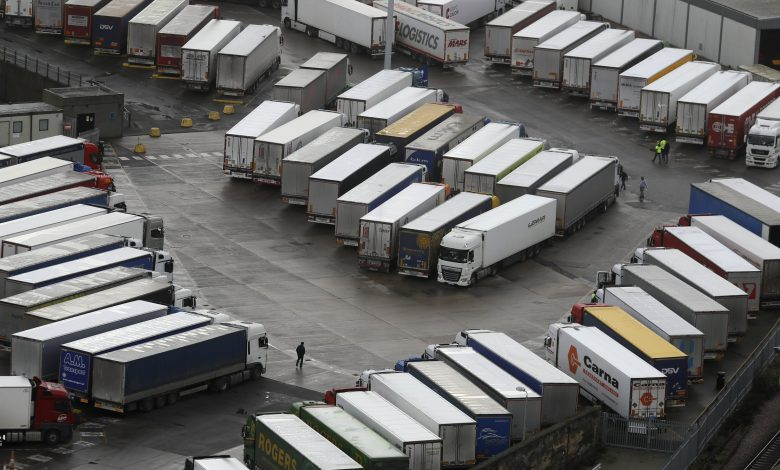 The UK is striving to end the French truck ban