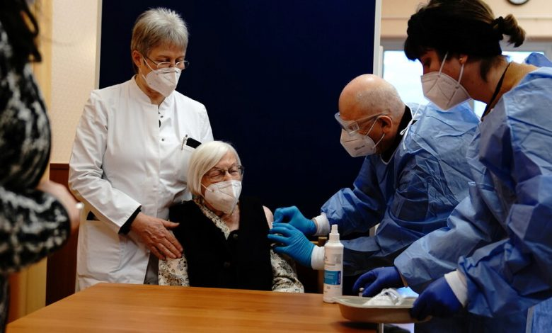 The start of the European Union mass vaccination campaign, with a focus on nursing homes