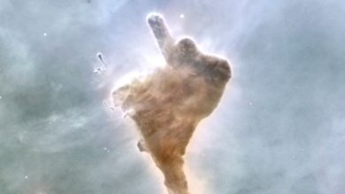 Photo of This epic space cloud sums up our goodbye for 2020