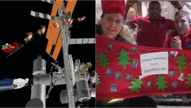 Photo of Watch: When the astronauts on the International Space Station celebrate Christmas in space and Santa visits them