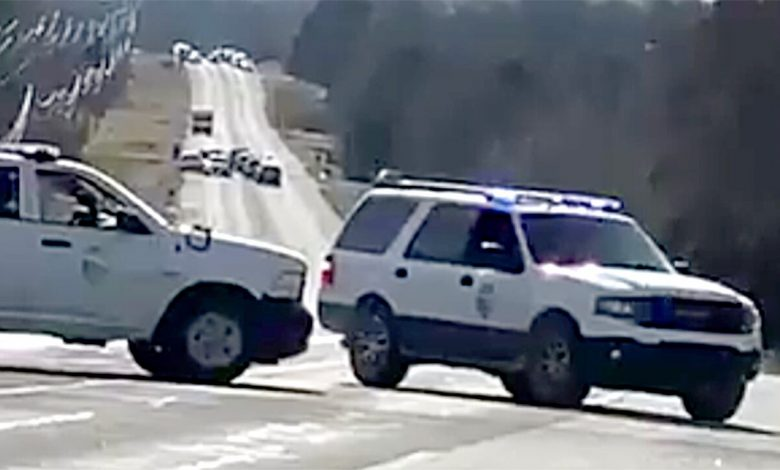 White truck playing 'sound like' an RV in a Nashville blast shuts down the Tennessee highway