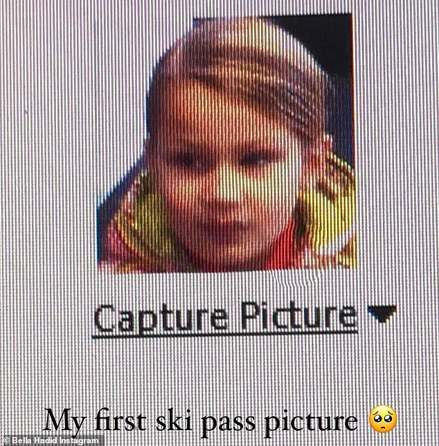 Baby's First Ski Trip: I also shared a cute throwback to Little Bella's Instagram story, captioning, `` My first skate trail photo