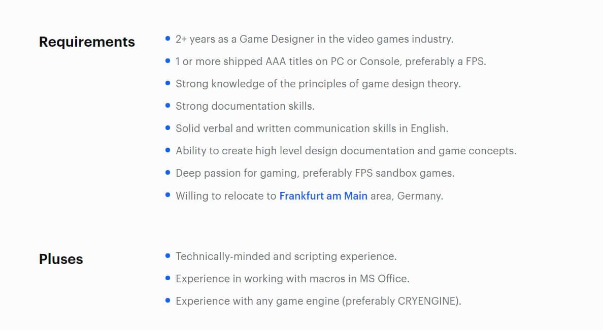 Unspoken Crytek Job List -2
