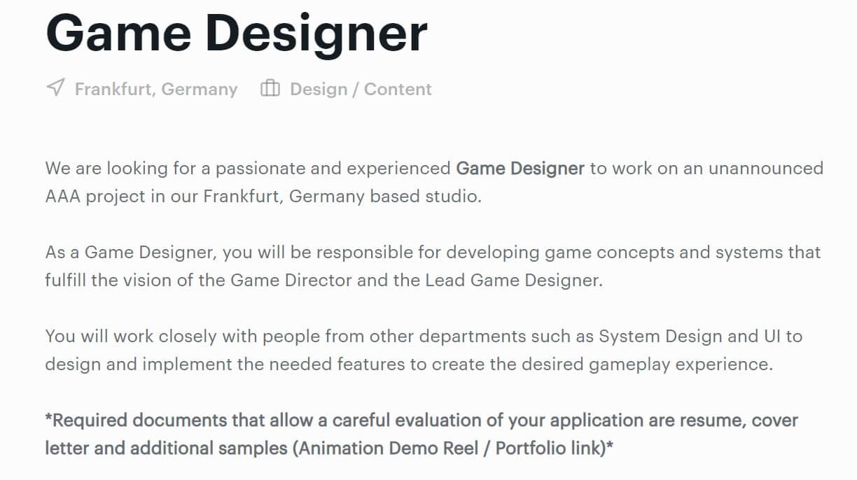 Unspoken Crytek Job List -1