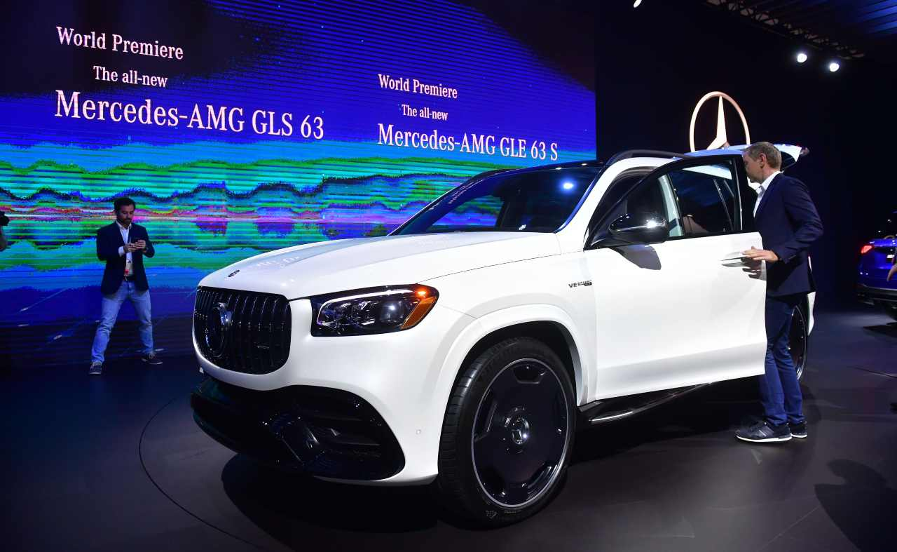 Lukaku's passion for Mercedes: GLS 63 (Getty photo)