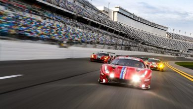 Photo of IMSA |  Three Ferrari cars at the start of the 24 Hours of Daytona – Sport GT