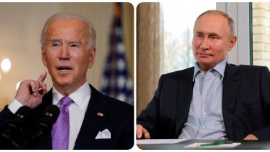 "Photo of A phone call between Biden and Putin.  White House: ""Navalny's poisoning expresses concern."""