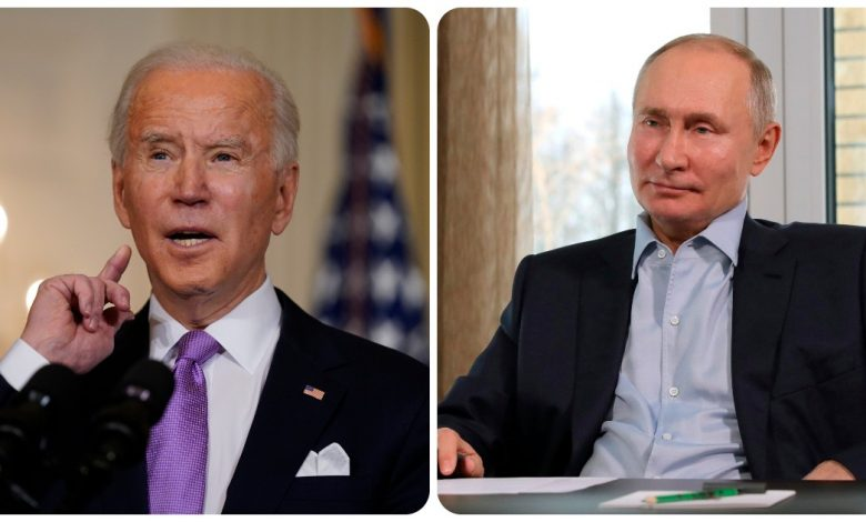 "A phone call between Biden and Putin.  White House: ""Navalny's poisoning expresses concern."""